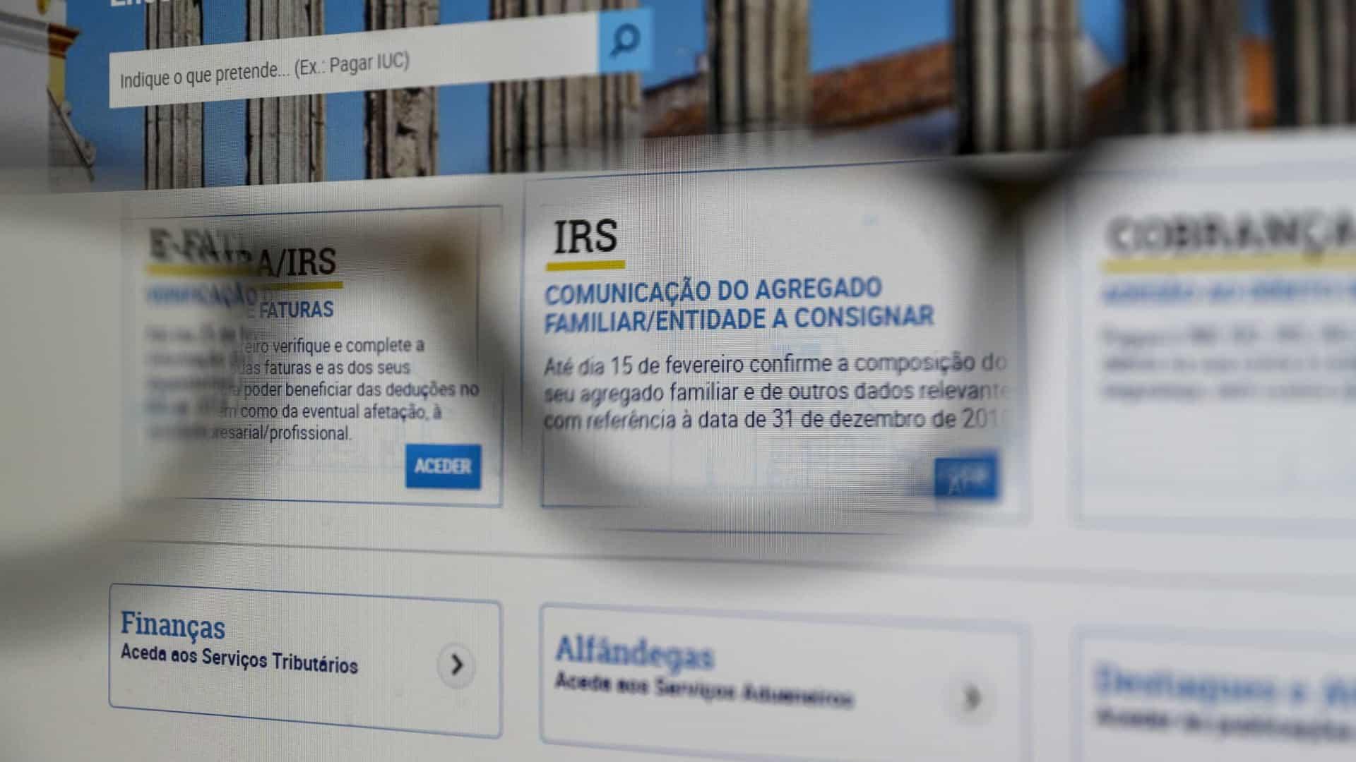 Registo Plano Prestacional IRS 2020